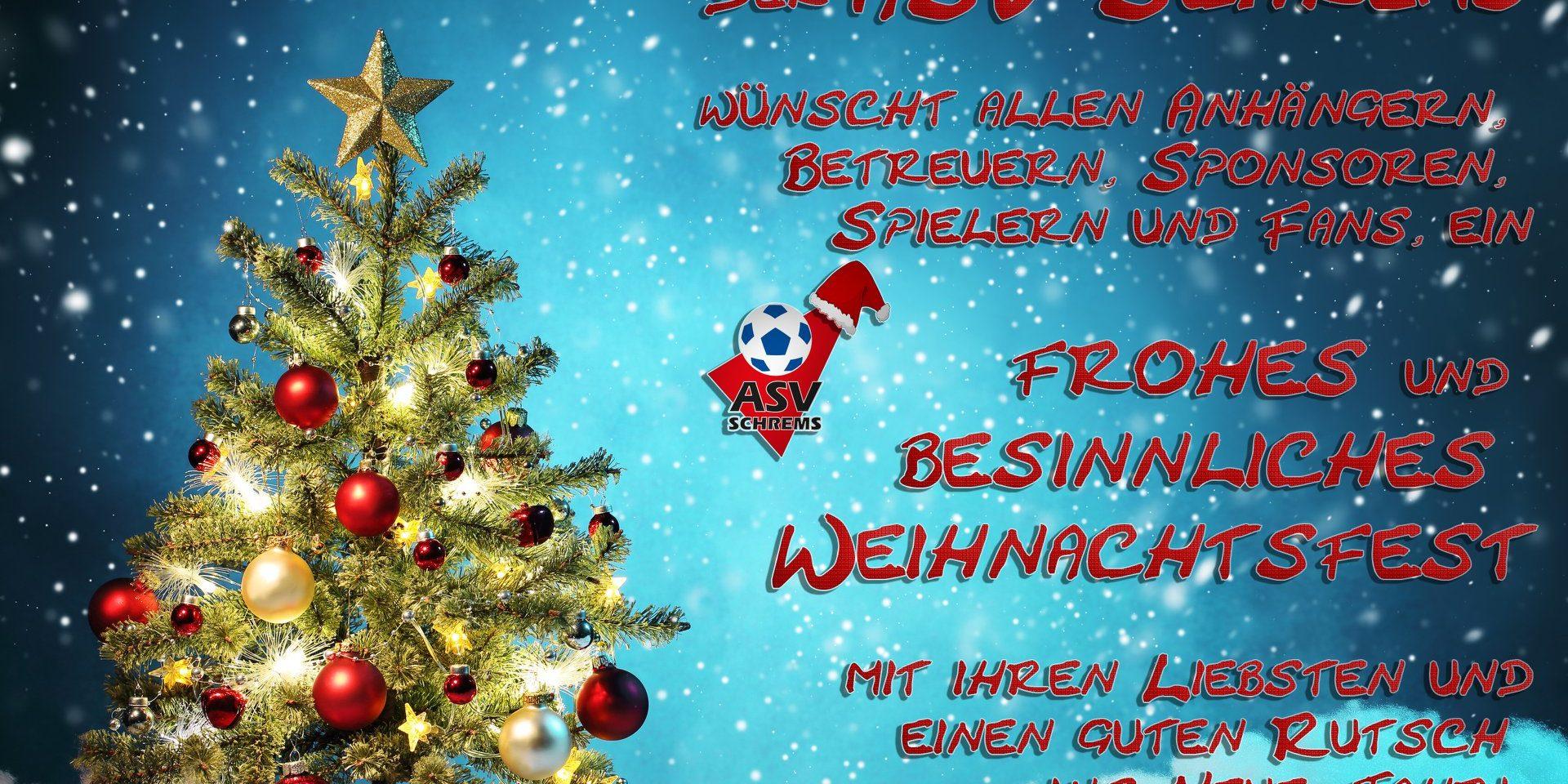 Frohe Weihnachten Asv Schrems Sektion Fussball